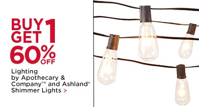 BUY 1, GET 1 60% OFF Lighting by Apothecary & Company™ and Ashland® Shimmer Lights