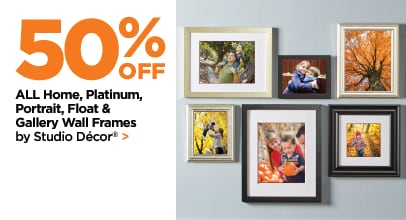 50% Off ALL Home, Platinum, Portrait, Float & Gallery Wall Frames