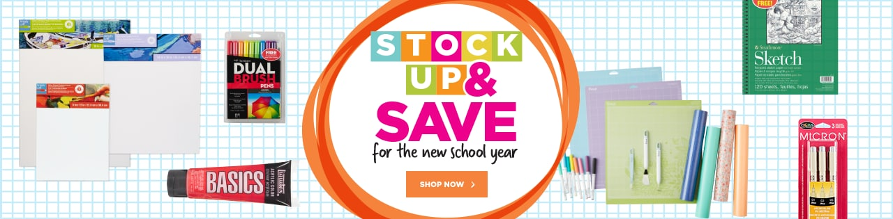 Stock Up & Save for the new school year