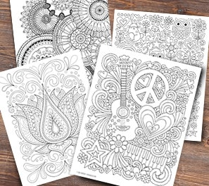 Adult Coloring Pages, Pictures & Supplies | Michaels