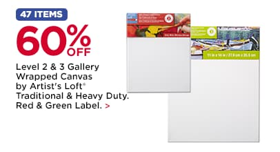 60% OFF Level 2 & 3 Gallery Wrapped Canvas by Artist's Loft