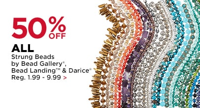 50% OFF All Strung Beads by Bead Gallery