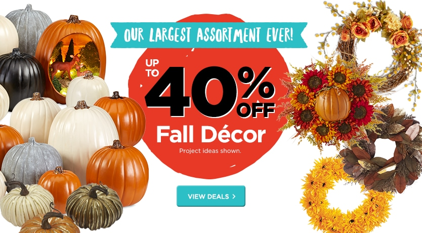 Up to 40% Off Fall Decor