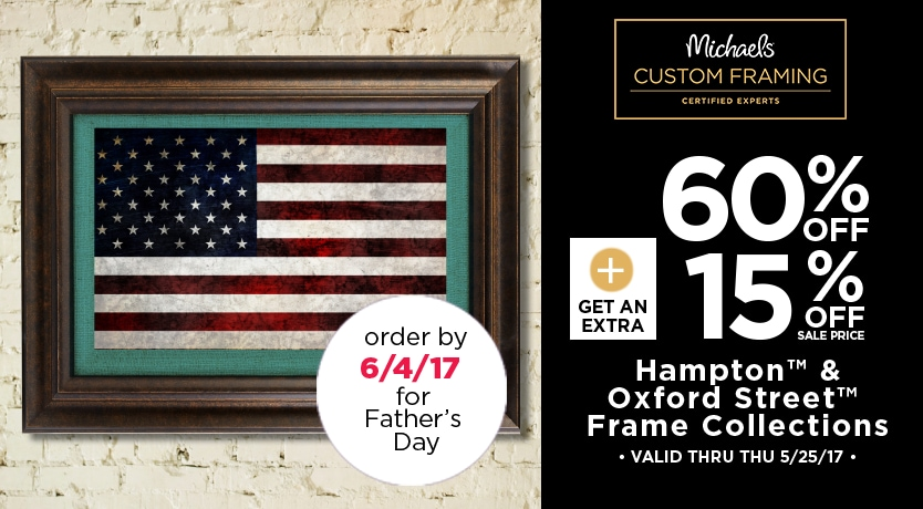60% OFF + Get an Extra 15% OFF Sale Price Hampton™ & Oxford Street™ Frame Collections