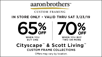 65% OFF One, 70% OFF Two or More Cityscape™ & Scott Living™ Custom Frame Collections