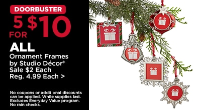 DOORBUSTER 5 for $10 ALL Ornament Frames by Studio Décor