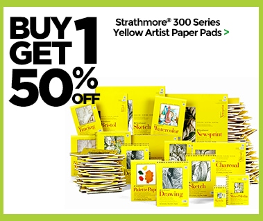 Buy One Get One 50% Off Strathmore 300 Series Yellow Artist Paper Pads