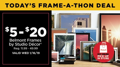 $5-$20 Belmont Frames by Studio Décor®. Reg $11.99 - $49.89
