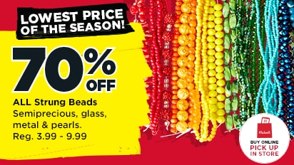 Lowest Prices of the Season! 70% OFF  All Strung Beads