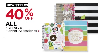 40% Off Planners & Planner Accessories