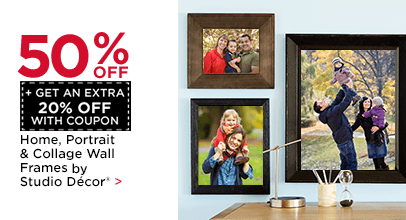 50% OFF + Get an Extra 20% with Coupon. Home, Portrait & Collage Wall Frames by Studio Décor®