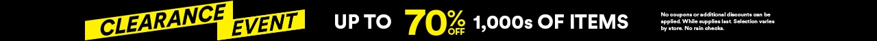 Clearance event: up to 70% off thousands of items