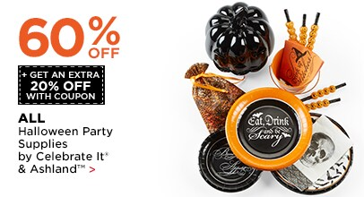 60% OFF + Get An Extra 20% OFF Halloween Party Supplies by Celebrate It® & Ashland