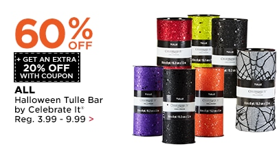 60% OFF + Get An Extra 20% OFF Halloween Tulle Bar by Celebrate It