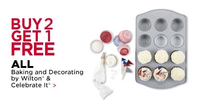 Buy 2 Get 1 Free ALL Baking and Decorating By Wilton & Celebrate it