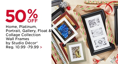50% OFF Home, Platinum, Portrait, Gallery, Float & Collage Collection Wall Frames by Studio Décor