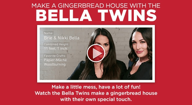 Make A Gingerbread House With The Bella Twins