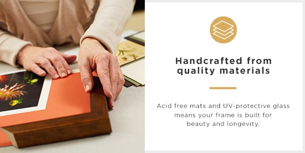 Handcrafted from quality materials