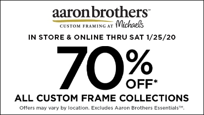 70% OFF ALL Custom Frame Collections