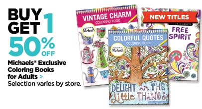 Buy One Get One 50% Off Coloring Books