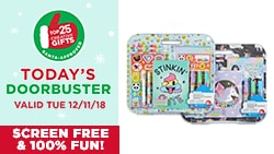 $10 EACH Stationery Sets by Creatology™. Reg. $15 Each. Today's Doorbuster Valid 12/10/18 - Top 25 Gifts Countdown to Christmas