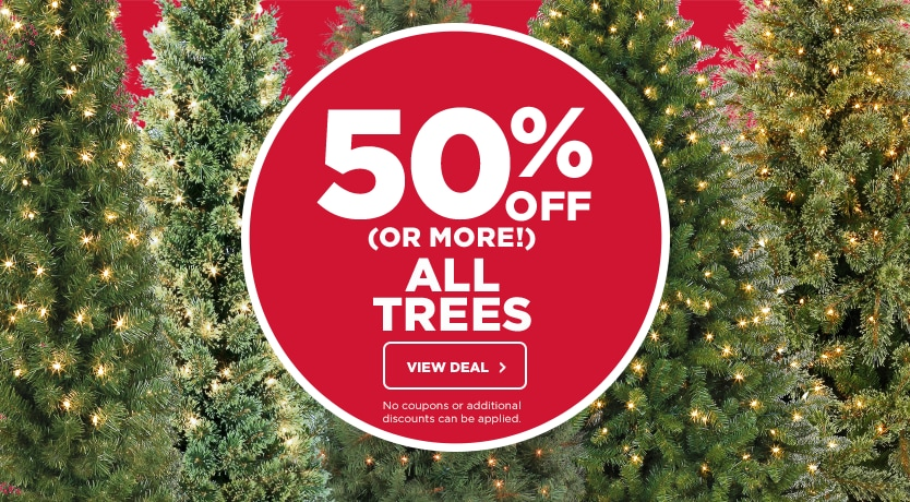 50% OFF (Or More) All Trees