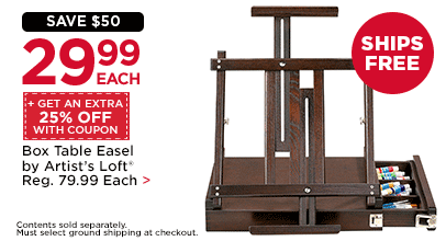 $29.99 Each + Get An Extra 25% Off With Coupon Box Table Easel by Artist's Loft