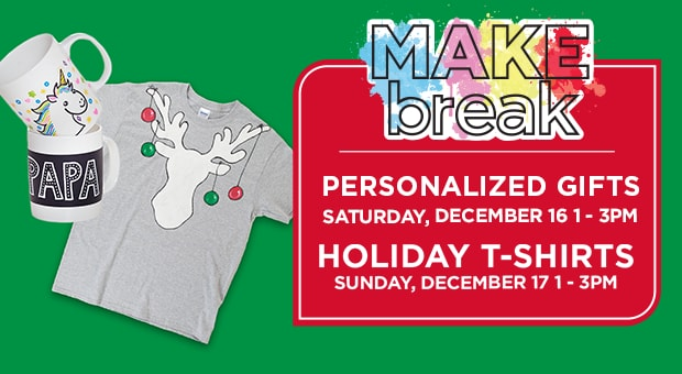MAKEbreak Personalized Gifts/Holiday T-Shirts