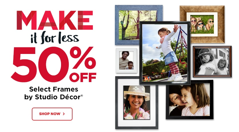 50% Off Select Frames by Studio Décor