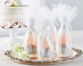 Tulle Champagne Bottle Favors