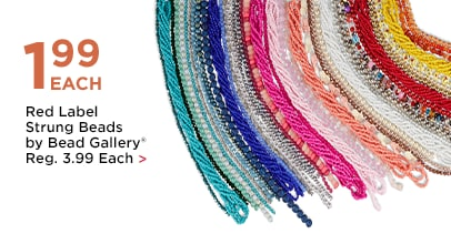 $1.99 Each Red Label Strung Beads by Bead Gallery