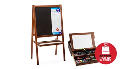 $30 EACH Kids' 103 pc. Art Set or Wooden Easel by Creatology™. Reg. $50 - $70. Buy Online Pick Up In-Store
