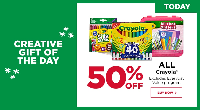Countdown to Christmas Crayola Buy One Get One 50% OFF
