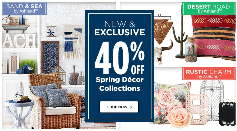 40% OFF Spring Décor Collections
