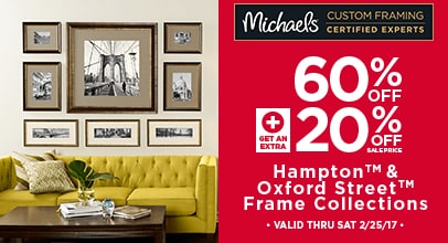 60% + 20% Off Hampton & Oxford Street Frame Collections