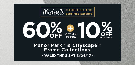60% + 10% Manor Park & CityScape Frame Collections