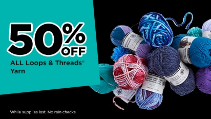 50% OFF ALL Loops & Threads® Yarn