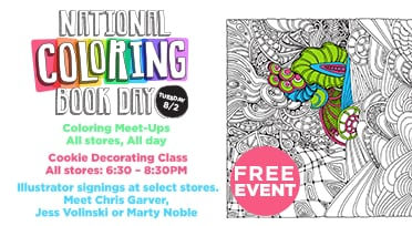 National Coloring Book Day is Tuesday, 8/2