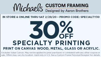 In-Store & Online. 30% OFF Specialty Printing