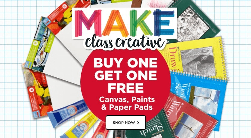 MakeBreak  Buy One Get One Free Canvas, Paints & Paper Pads