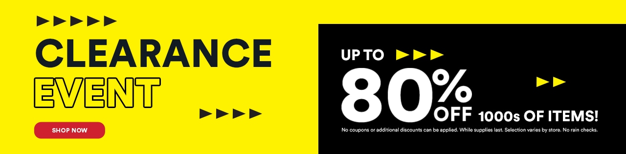 Clearance Event Up to 80% OFF 1000s of Items!