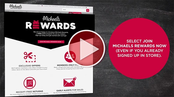 Michaels Rewards Video Poster