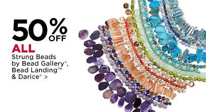 50% Off All Strung Beads by Bead Gallery, Bead Landing & Darice