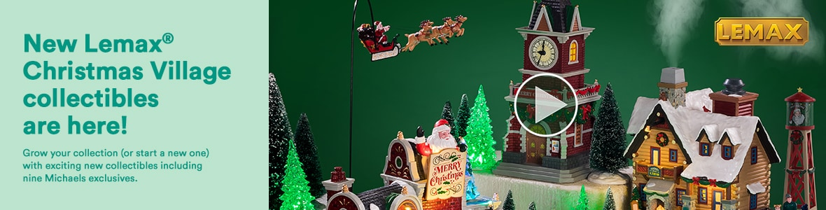 New Lemax® Christmas Village collectibles are here! Grow your collection (or start a new one) with exciting new collectibles including nine Michaels exclusives.