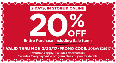 20% Off Entire