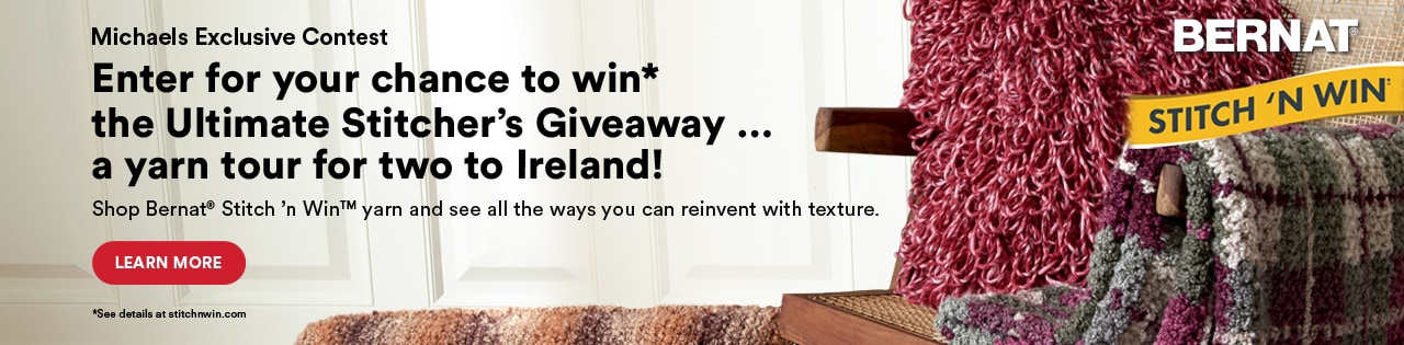 Enter for your chance to win the Ultimate Stitcher's Giveaway... a yarn tour for two to Ireland! Learn more