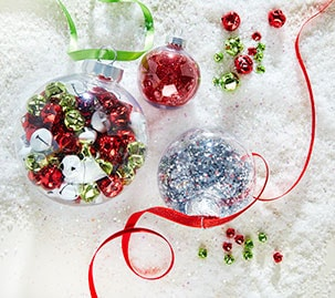 Filled Christmas Ornaments