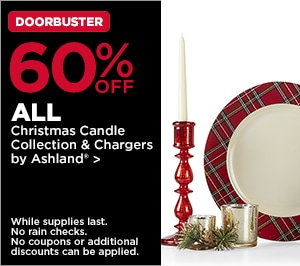50% OFF ALL Christmas Candle Collection & Chargers by Ashland
