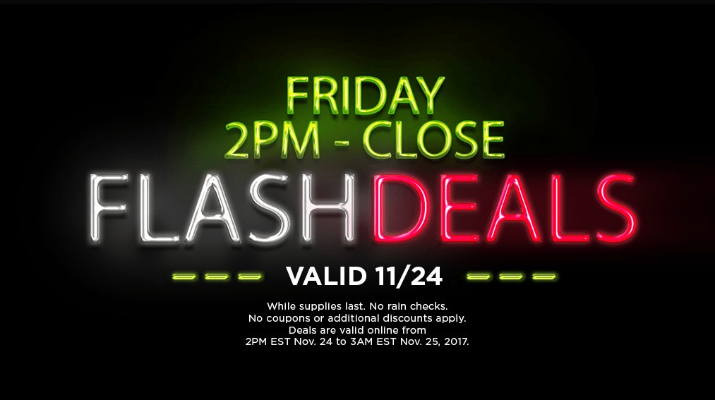 Friday Flash Deals 2pm- Close