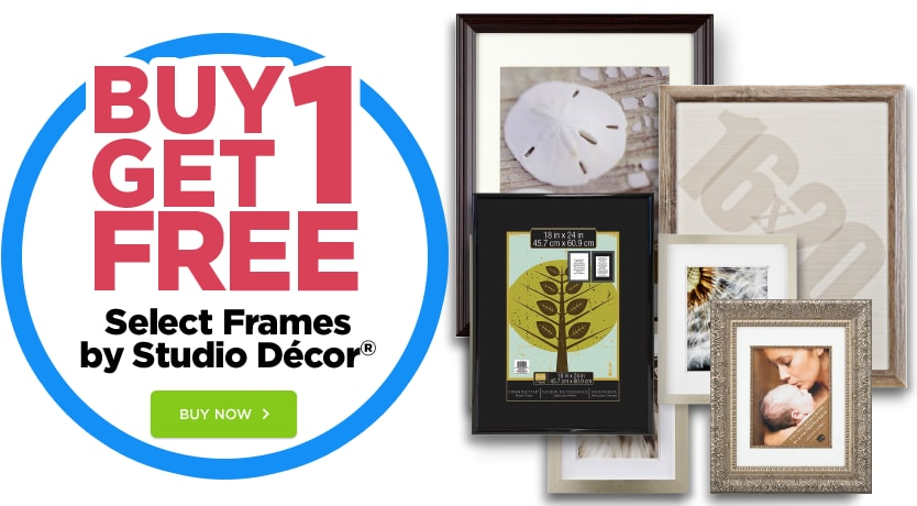 Buy One get One Free Select Frames by Studio Décor